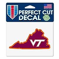 "Virginia Tech Hokies 4"" x5"" Perfect Cut Decal状態"