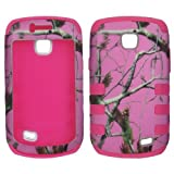 Hybrid 3 in 1 Pk Pink Camo Pine Samsung Galaxy Proclaim SCH-S720C NET 10 Straight Talk / Illusion i110 Verizon Case Cover Hard Phone Case Snap-on Cover Rubberized Touch Faceplates by wirelesspulse [並行輸入品]
