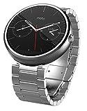 モトローラ Moto 360 Smart Watch スマートウォッチ 腕時計 Android Wear【並行輸入品】 (23ミリ幅ライトメタル)