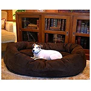 52 inch Chocolate Suede Bagel Dog Bed By Majestic Pet Products [並行輸入品] | Majestic Pet | ベッド・クッション 通販