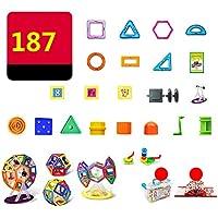 マグネット 磁石 磁気おもちゃ 187件 知育玩具 想像力と創造力を育てる 男の子 女の子 子供おもちゃ磁石ブロック キッズ 誕生日 クリスマス 新年 プレゼント DIY 積み木