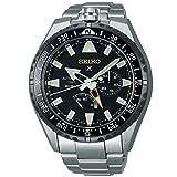 [プロスペックス]PROSPEX 腕時計 PROSPEX メカニカル GMT機能 ランドマスター25周年記念500本 限定チタンモデル ブラック文字盤 SBEJ003 メンズ
