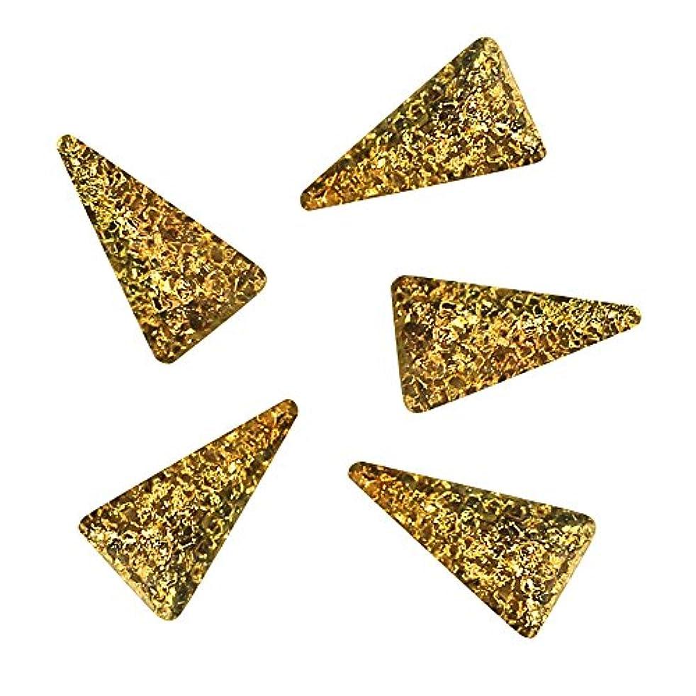 うなずく拡声器茎Bonnail ラフスタッズゴールド ロングトライアングル3×2mm
