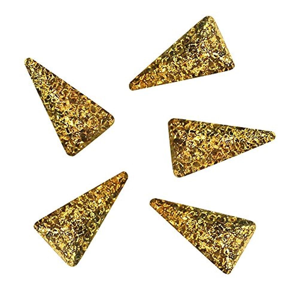 憂鬱メガロポリス微生物Bonnail ラフスタッズゴールド ロングトライアングル3×2mm