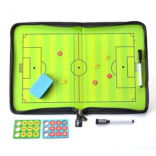 AGPtEK サッカーボード 作戦盤 コーチ マグネット 戦略/指導など 専用ペン付き ファスナータイプ