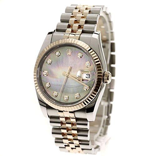 ROLEX(ロレックス) Ref.116231NG コンビ 10Pダイヤモンド オイスターパーペチュアル デイトジャスト 腕時計 ステンレス/SSxK18PG/K18PG メンズ (中古)
