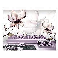 Mrlwy 壁画リビングルームのソファテレビの壁の寝室の壁紙-350X250CMのための3D壁画美しいモダンな白い花