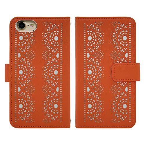 GALAXY S4 SC-04E スマホケース 手帳型 ケース fj6491 (オレンジ) フリップ PUレザー ベルト有り 手帳 カバー