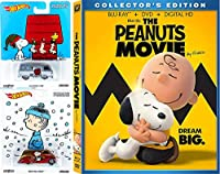 The Peanuts Movie - Blu Ray DVD Peanuts Hot Wheels Charlie Brown Christmas Set Collectible Pop Culture Cars / Lucy /
