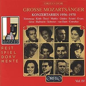 モーツァルト:オペラ・アリア集 Vol.4  (Mozart, Wolfgang Amadeus: Konzertarien 1956-1970)