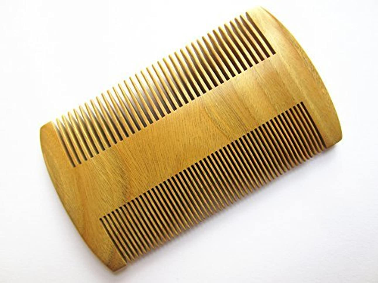 対抗ましい黒人Myhsmooth GS-S2M-N2F Handmade Natural Green Sandalwood No Static Pocket Comb Perfect Beard Comb with Aromatic...