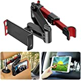 TEGAL Car Headrest Mount, Extendable Tablet Headrest Holder, Fits All 7 Inch to 11 Inch Tablets, Compatible with Smartphones/