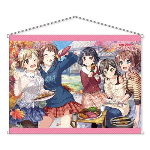 バンドリ! ガールズバンドパーティ! Poppin'Party B2タペストリー 約縦51.5cm×横72.8cm