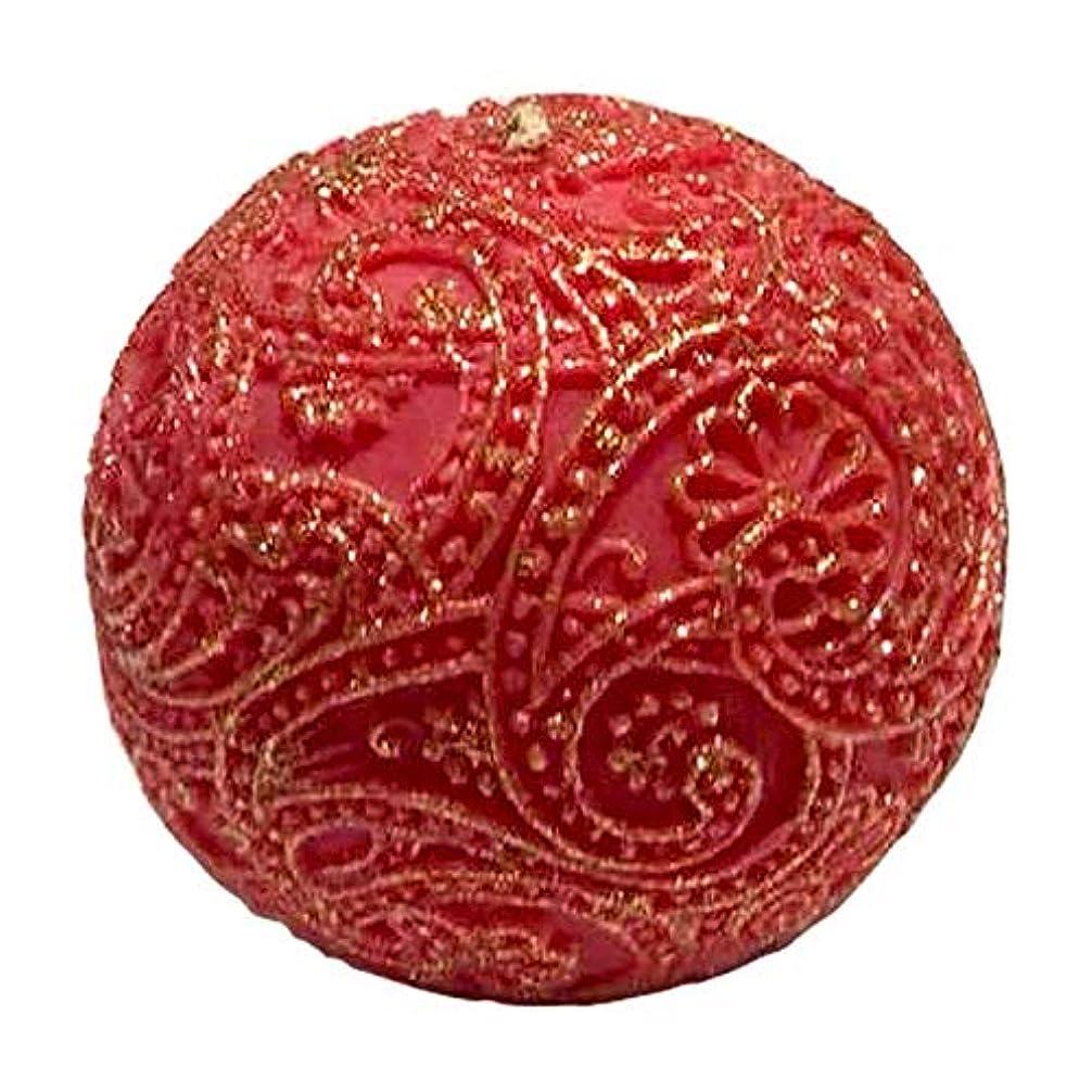 欠陥ビザ理容室ペイズリー Globular Gliter (Red×Gold)