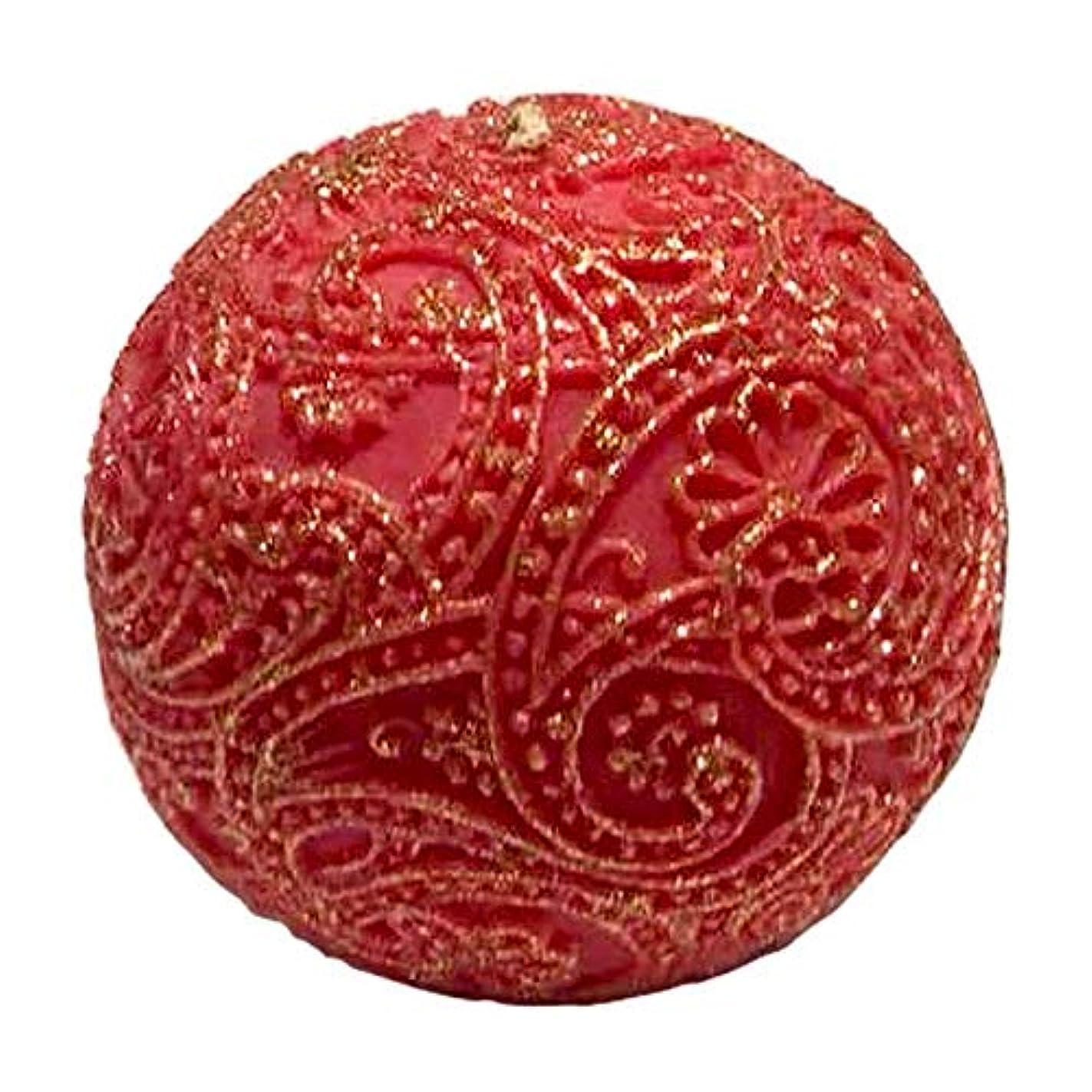 資源食器棚不規則性ペイズリー Globular Gliter (Red×Gold)