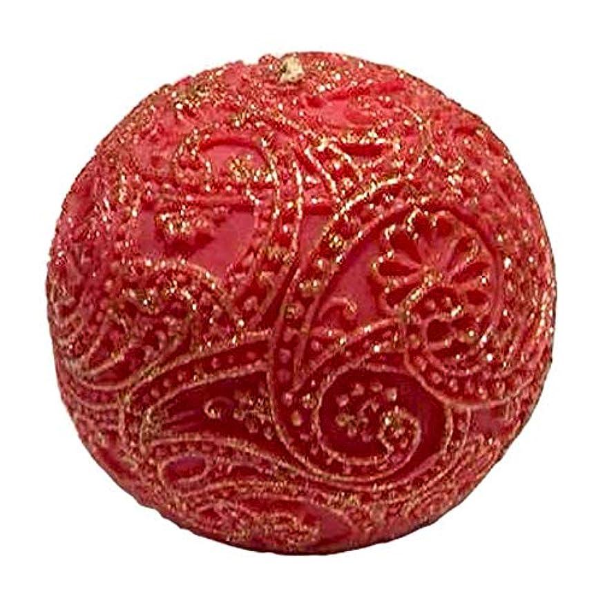 ピアのぞき見荒涼としたペイズリー Globular Gliter (Red×Gold)