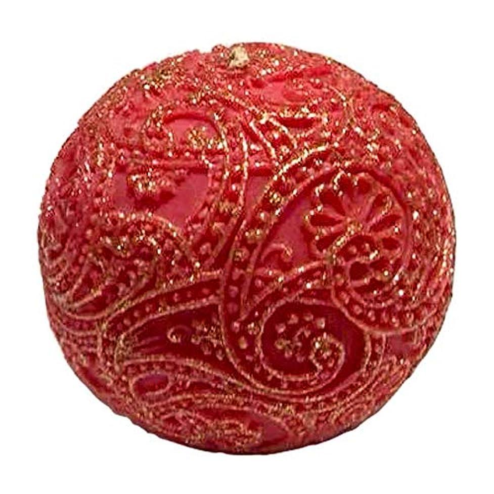 最もオペラ評論家ペイズリー Globular Gliter (Red×Gold)