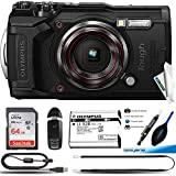 Olympus Tough TG-6 Waterproof Camera, Black -64GB Basic Bundle