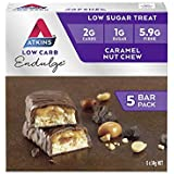 Atkins Endulge Caramel Nut Chew Bars | Keto Friendly Bars | 5 x 34g Low Carb Caramel Chocolate Bars | Low Carb, Low Sugar, High Fibre | 5 Bar Pack