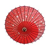 STARDUST 【 おみやげに 】 和風 踊り傘 日傘 (赤) SD-ODORI-RD