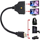 SAG HDMI Male to 2 HDMI Female 1 in 2 out Splitter Black Cable Adapter Converter AUS
