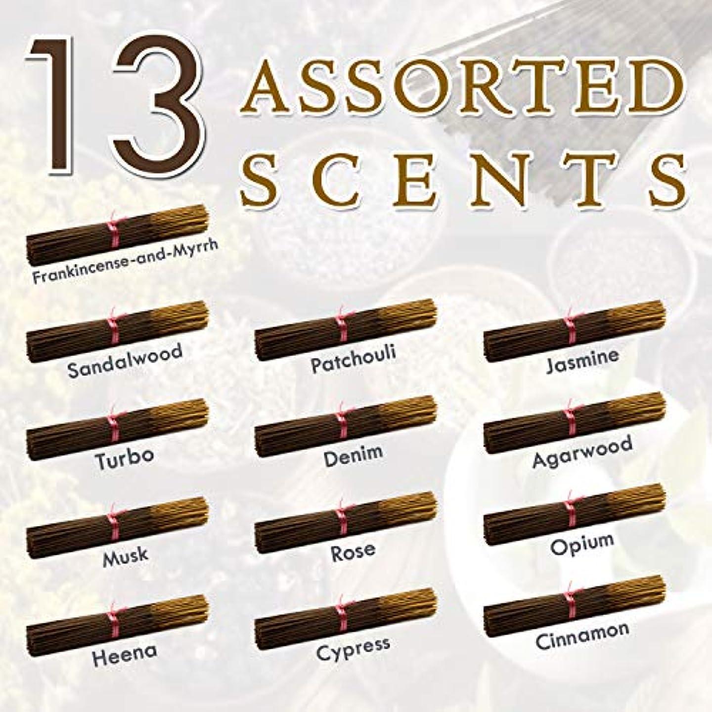 比類なき温かいゲージ独占的な12種類の香り-乳香-ミルラ-サンダルウッド-パチョリ-ジャスミン-トゥルボ-デニム-ガーウッド-ム-ム-オピウム-ヘナ-サイプレス- 100%-天然インセンス-スティックハンドメイド - 手作り - 240-パック -