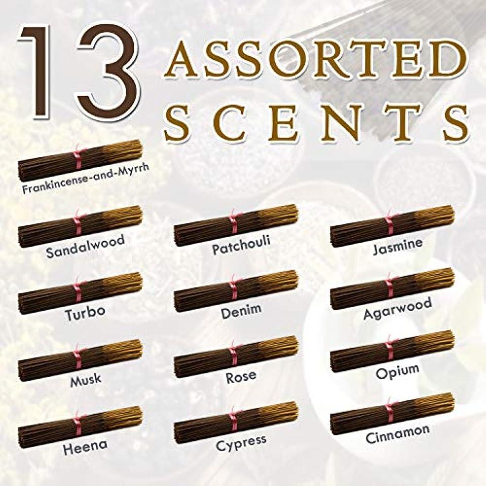 ギャンブル封建立ち向かう独占的な12種類の香り-乳香-ミルラ-サンダルウッド-パチョリ-ジャスミン-トゥルボ-デニム-ガーウッド-ム-ム-オピウム-ヘナ-サイプレス- 100%-天然インセンス-スティックハンドメイド - 手作り - 240-パック -