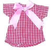 SONONIA 14インチドール人形のため ちょう結び 装飾 人形用 チェック柄 ドレス ワンピース