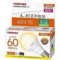 東芝 LED電球E17口金 全光束760lm(7.0Wミニクリプトンタイプ)電球色相当 LDA7L-G-E17/S60WST