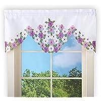 エレガントなWildflowersフローラルウィンドウ飾り布カーテン