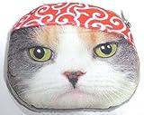 【560kick】 かぶり帽 猫 ネコ 小銭入れ ミニポーチにも (赤帽)
