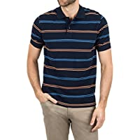Daniel Stripe Polo,Navy Orange