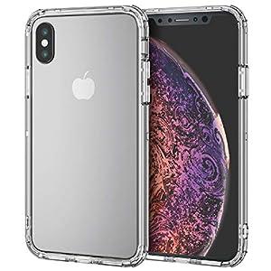 エレコム iPhone Xs ケース 衝撃吸収 TRANTECT ハイブリッド バンパー 【iPhoneを美しく守る。】 iPhone X対応 クリア PM-A18BHVBCR