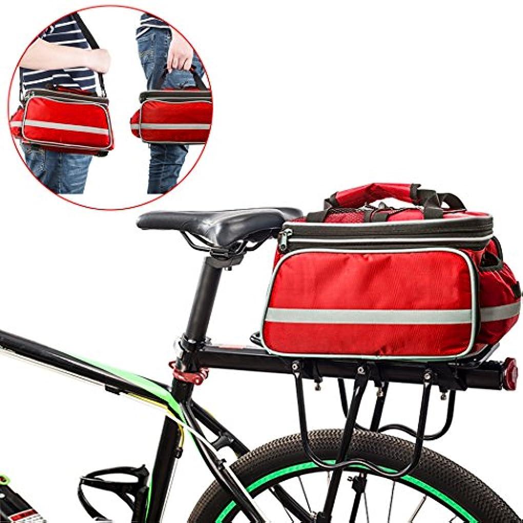 比率バングラデシュすり減るflydeer自転車パニアアウトドア防水自転車トランクバッグバイクパニエ大容量キャリーショルダーバッグ防雨カバー&反射トリム、ラックバッグfor Cycling