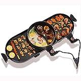 DHINGM 電気誘導鍋炊飯器、1ステンレス鋼BBQ&鍋フライパンクックグリルキッチンパンマルチクッカーライスキッチントップスープメーカーで2800W 2
