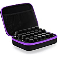 Frcolor 30 Bottle Essential Oils Storage Case Essential Oil Travel Box Holder Organizer (Purple)