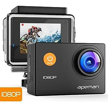【進化版】 APEMAN A66S アクションカメラ 1080P高画質 1400万画素 HDMI出力 スポーツカメラ 2インチ液晶画面 40M 防水カメラ 170度広角レンズ アクセサリー 多数バイクや自転車や車に取り付け可能 水中カメラ 防犯カメラ ウェアラブルカメラ [メーカー1年保証]