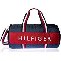 Tommy Hilfiger AM Navy Harbour Point Nylon Duffle Bag, Core Navy/Red