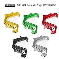 FATExpress オートバイ CNCアルミ 前面 鎖 ガード スプロケット エンジン カバー 2014 2015 Kawasaki 川崎 Ninja 忍者 Z1000 Z1000SX (金)