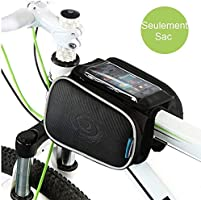 Cycling Frame Pannier Cell Phone Bag, WOTOW Bike Front Top Tube Touchscreen Saddle Bag Rack Mountain Road Bicycle Pack...