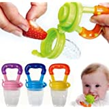 Q4U Baby Dummy Pacifier Fresh Food/Fruit Feeder Feeding Nipple Weaning Teething Nipple Teat Pacifier Teether Soother (Large,