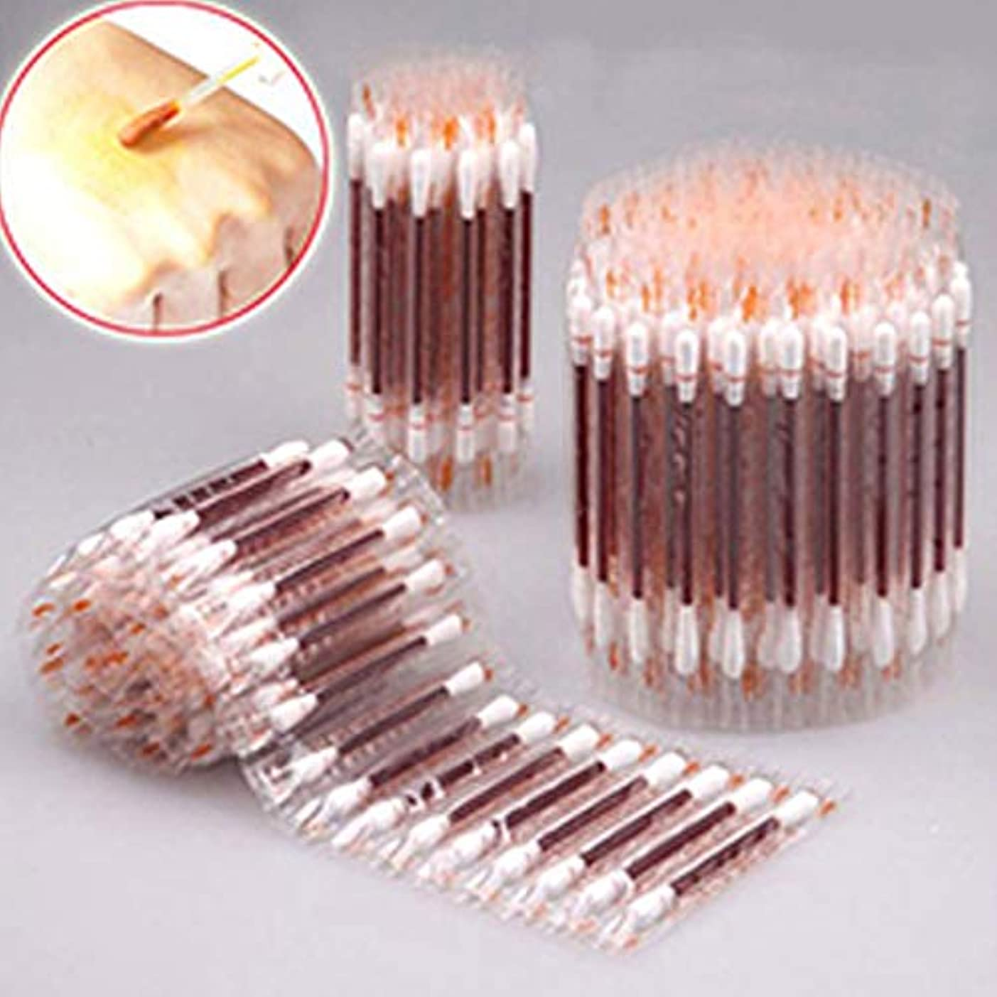 直面するリズミカルな銃Rabugoo 100個綿棒医療用アルコール使い捨て緊急綿棒消毒綿棒
