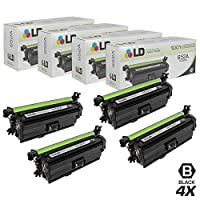LD Remanufactured Hewlett Packard 654 AレーザートナーカートリッジIncludes : cf320 aブラック、cf331 aシアン、cf332 aイエロー、& cf333 aマゼンタ