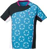 ゴーセン(GOSEN) 男女兼用 バドミントン ソフトテニス 星柄ゲームシャツ T1714 ターコイズブルー(18) L