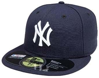 (ニューエラ) NEW ERA ベースボール キャップ ニューヨーク ヤンキース ブラック×ホワイトロゴ 59FIFTY NEW YORK YANKEES (7 1/2(約59.6cm))