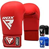 RDX Semi Contact Taekwondo Mitts MMA TKD Punch Bag Gloves Martial Arts Boxing Sparring WTF Training Grappling Karate Fighting