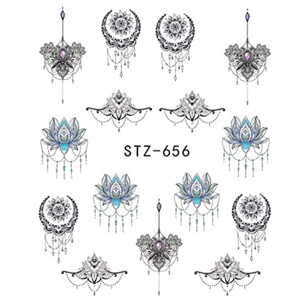 開いた卑しい海外でSUKTI&XIAO ネイルステッカー 1ピースゴージャスネックレスブラックレッドブルーステッカーネイルアートタトゥー水爪デザインネイルステッカー、Stz656