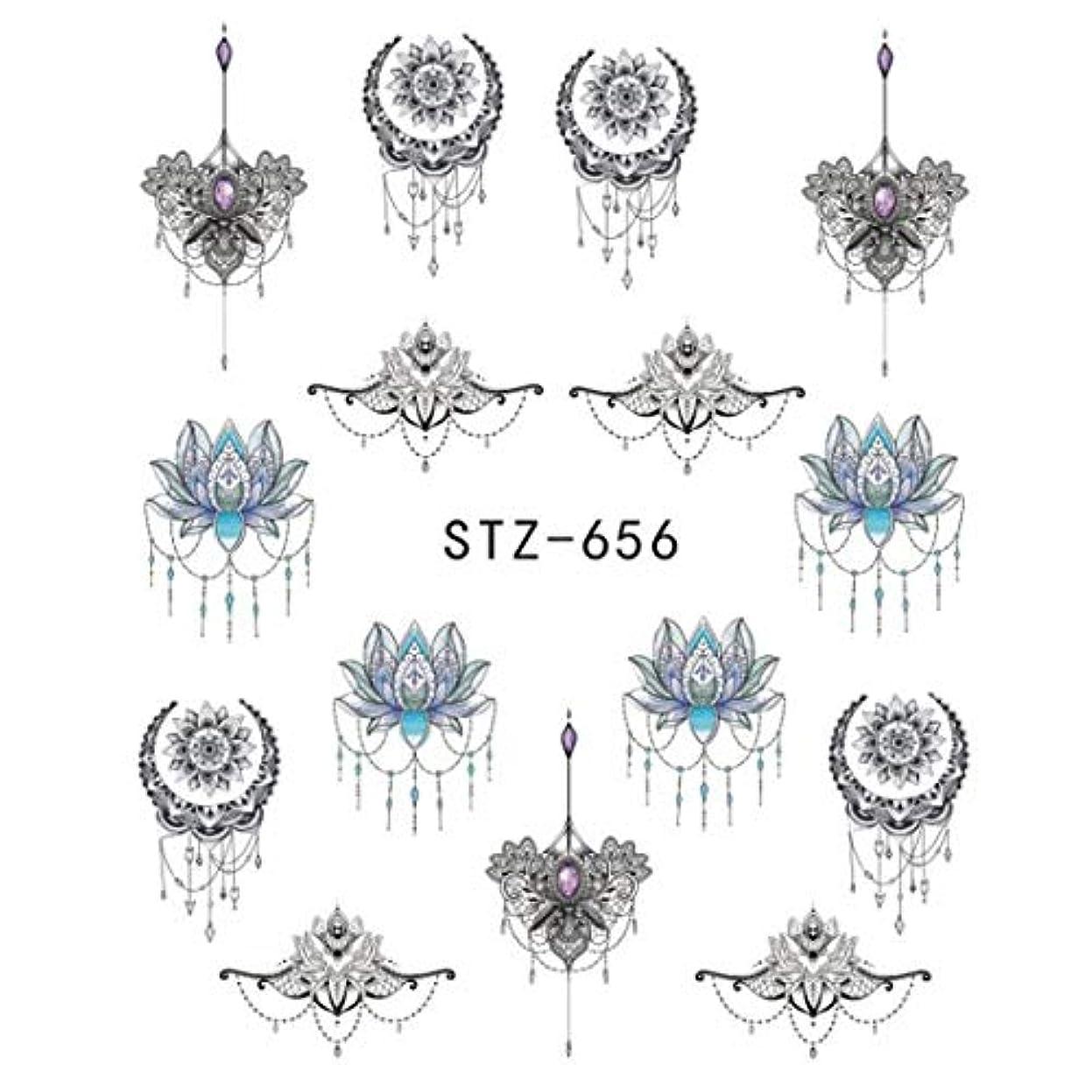 障害選ぶスキニーSUKTI&XIAO ネイルステッカー 1ピースゴージャスネックレスブラックレッドブルーステッカーネイルアートタトゥー水爪デザインネイルステッカー、Stz656