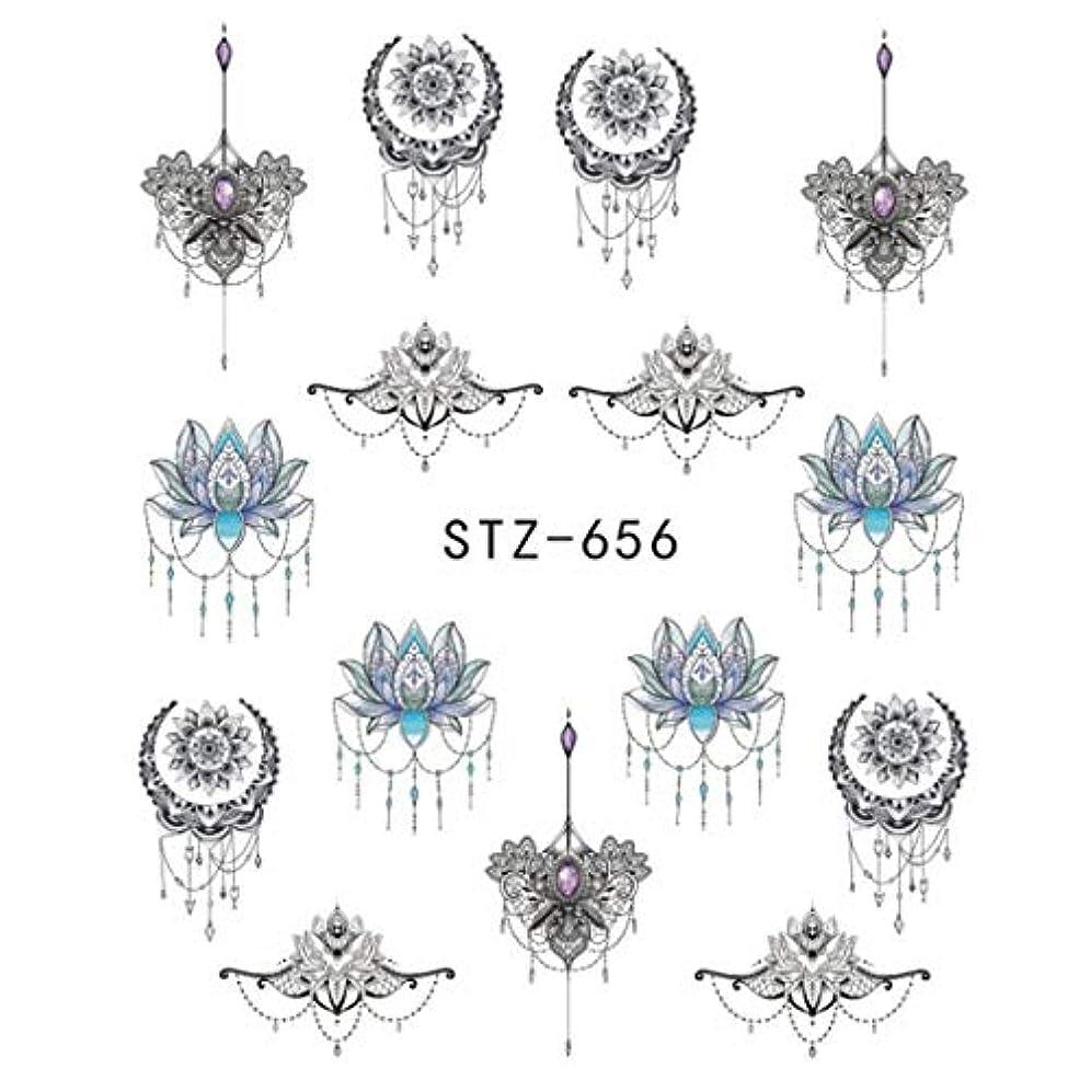 車財布相関するSUKTI&XIAO ネイルステッカー 1ピースゴージャスネックレスブラックレッドブルーステッカーネイルアートタトゥー水爪デザインネイルステッカー、Stz656