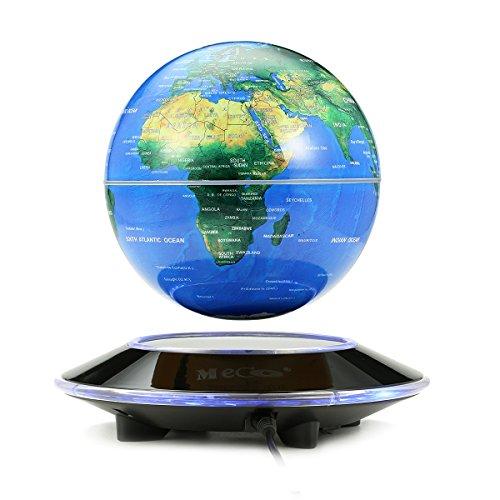 MECO 6 inch 磁気浮上 地球儀 浮遊・回転型の地球儀 磁気浮上 世...